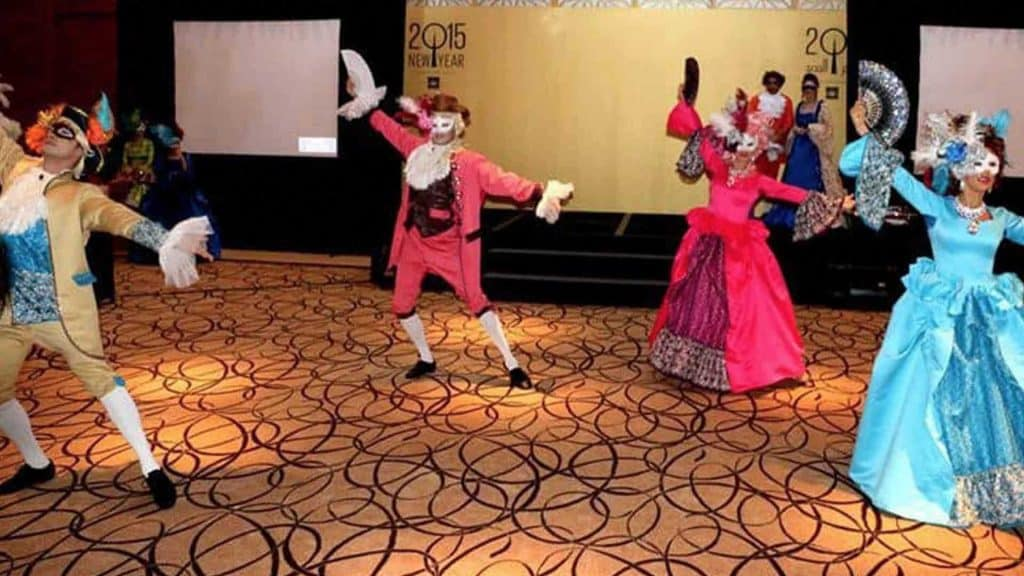 Renaissance masquerade and Venetian dancers available to hire for your masquerade event production
