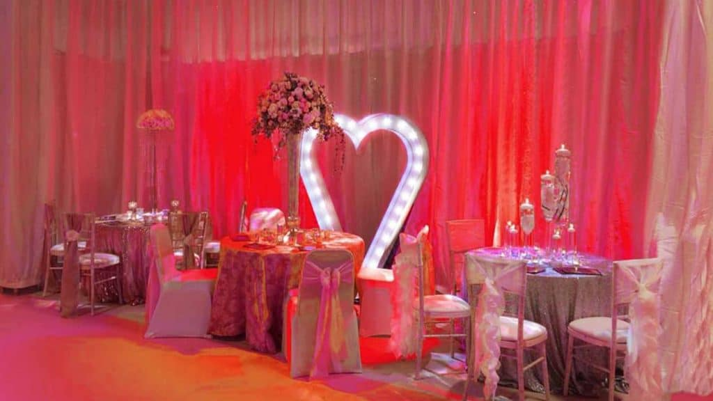 Book prop hire, venue decorations and theming for your party