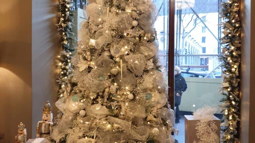 Waldorf Hilton London 2019 Christmas Trees.