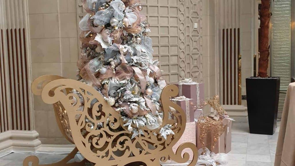 The Waldorf Hilton London Christmas Trees and Decorations.