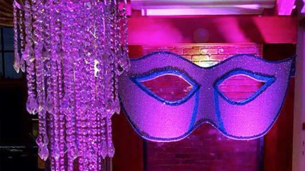 Masked ball party theme bespoke decorations to hire.