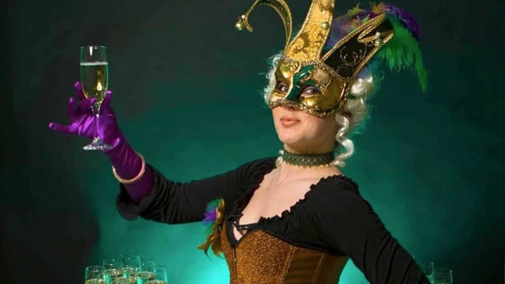 Human table available to hire for Masquerade event production