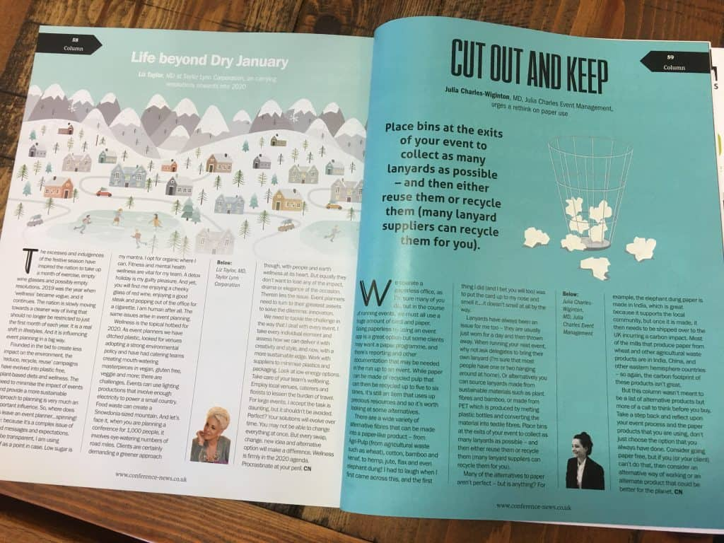 Conference News Article: Cut Out and Keep by Julia Charles.