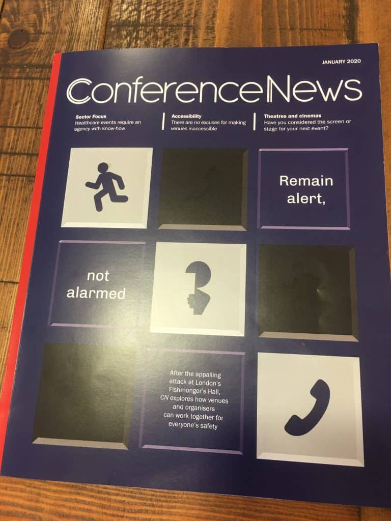 Conference News January 2020 front cover.