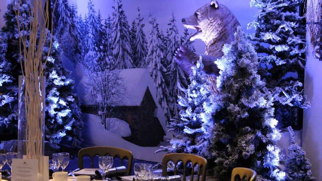 Winter wonderland themed props for hire UK