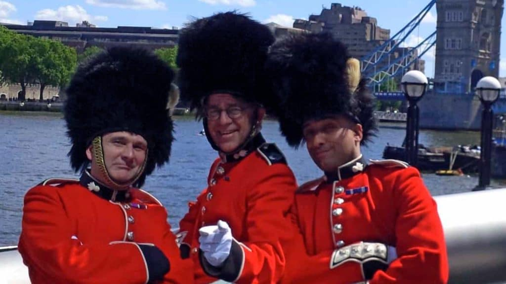 Comedy Royal Palace Guards available to book for British Themed Events.