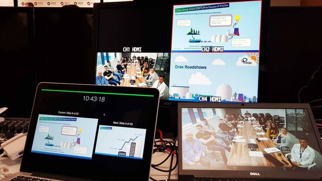 Opus Conference AV equipment used to create the perfect conference set up.