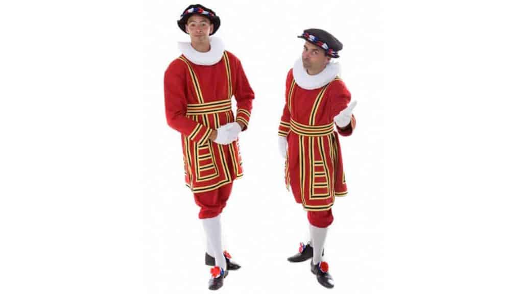 Royal Beefeater performers in bespoke British Royal Uniform.