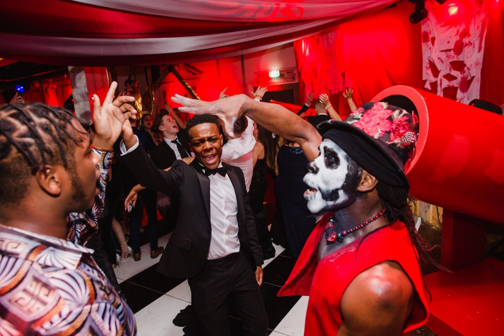 Twisted Circus Halloween Party organised by Julia Charles Event Management at the Curtain Hotel, Shoreditch, London.