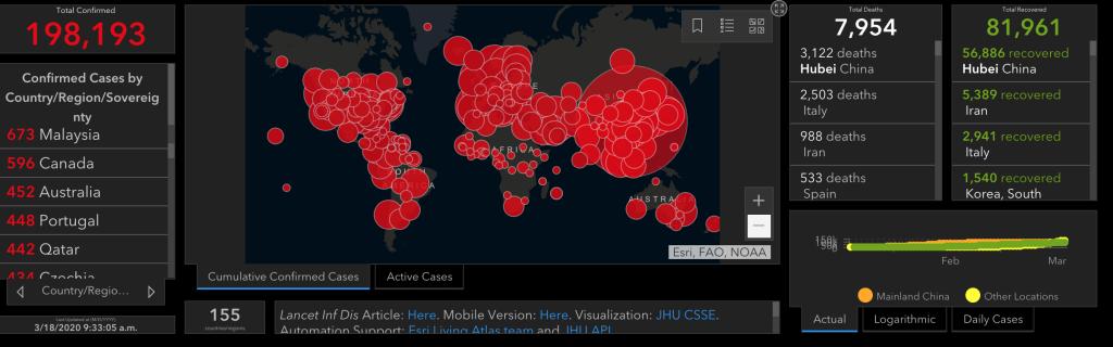 Updated 18.05.2020 coronavirus around the globe map