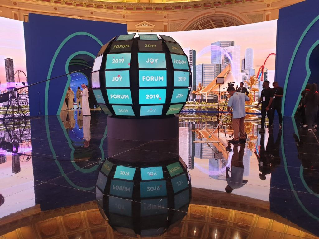 Technological entertainment at event in Saudi Arabia