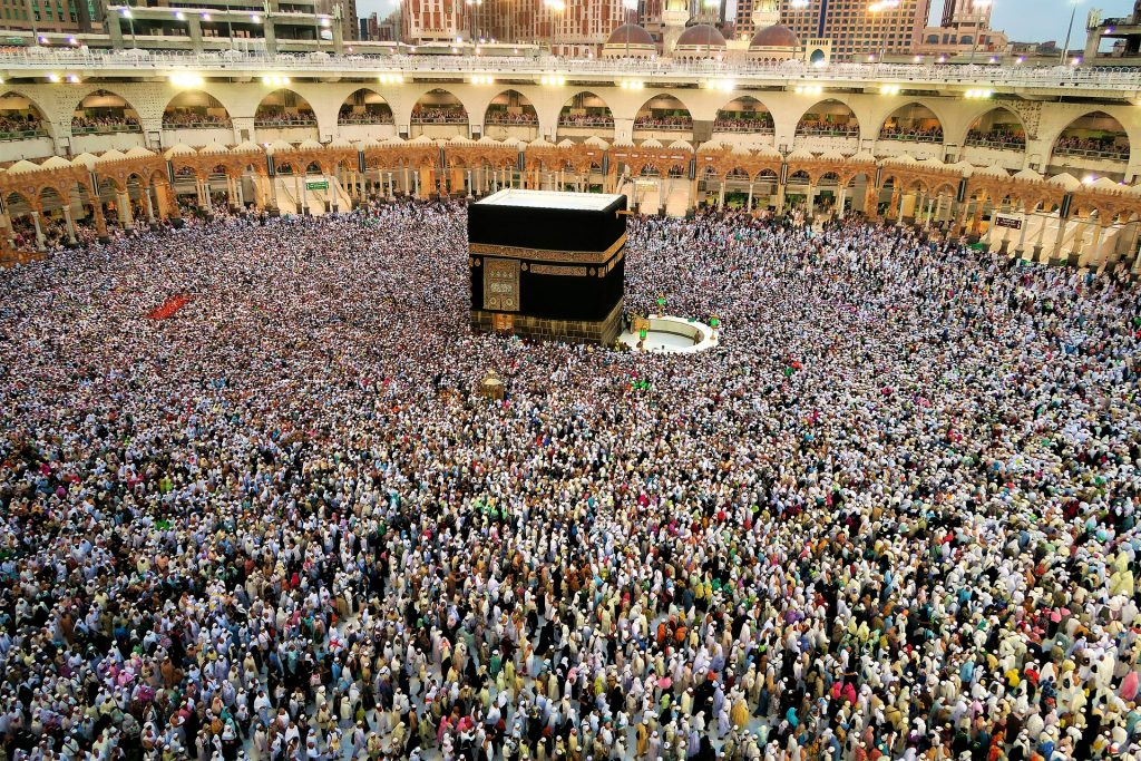 The city of Mecca in Saudi Arabia. A Muslim only city that is a pilgrimage destination for Muslims visiting Saudi Arabia