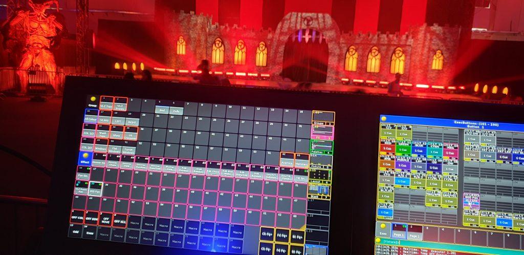 Technical, lighting, staging and AV set up for Saudi Horror Festival event