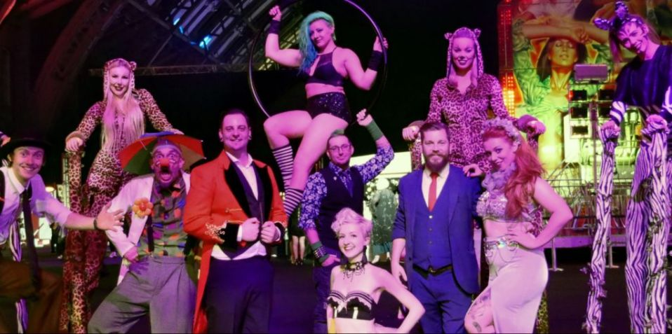 Group Photo of Themed Entertainers at an event