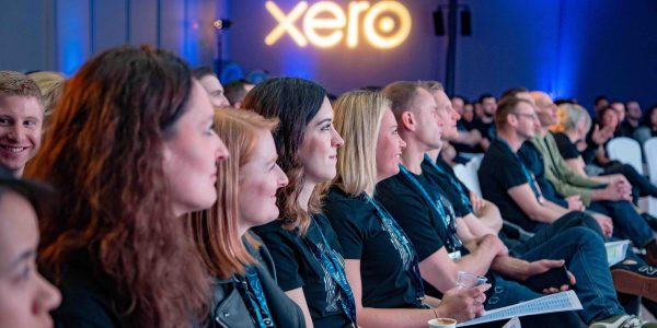 Public listening at a Guest Speaker Corporate Entertainment Option at the Xero Conference