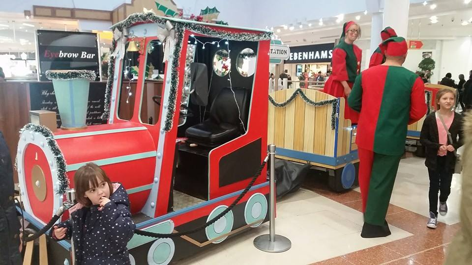 Shopping Centre event with a Christmas Land Train and elves