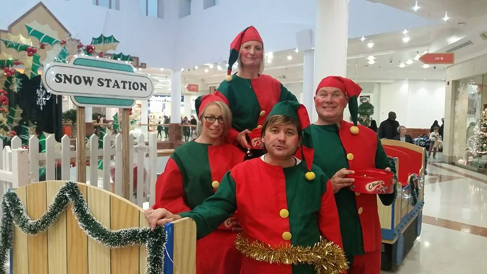 Christmas Land Train with Elves and Santa