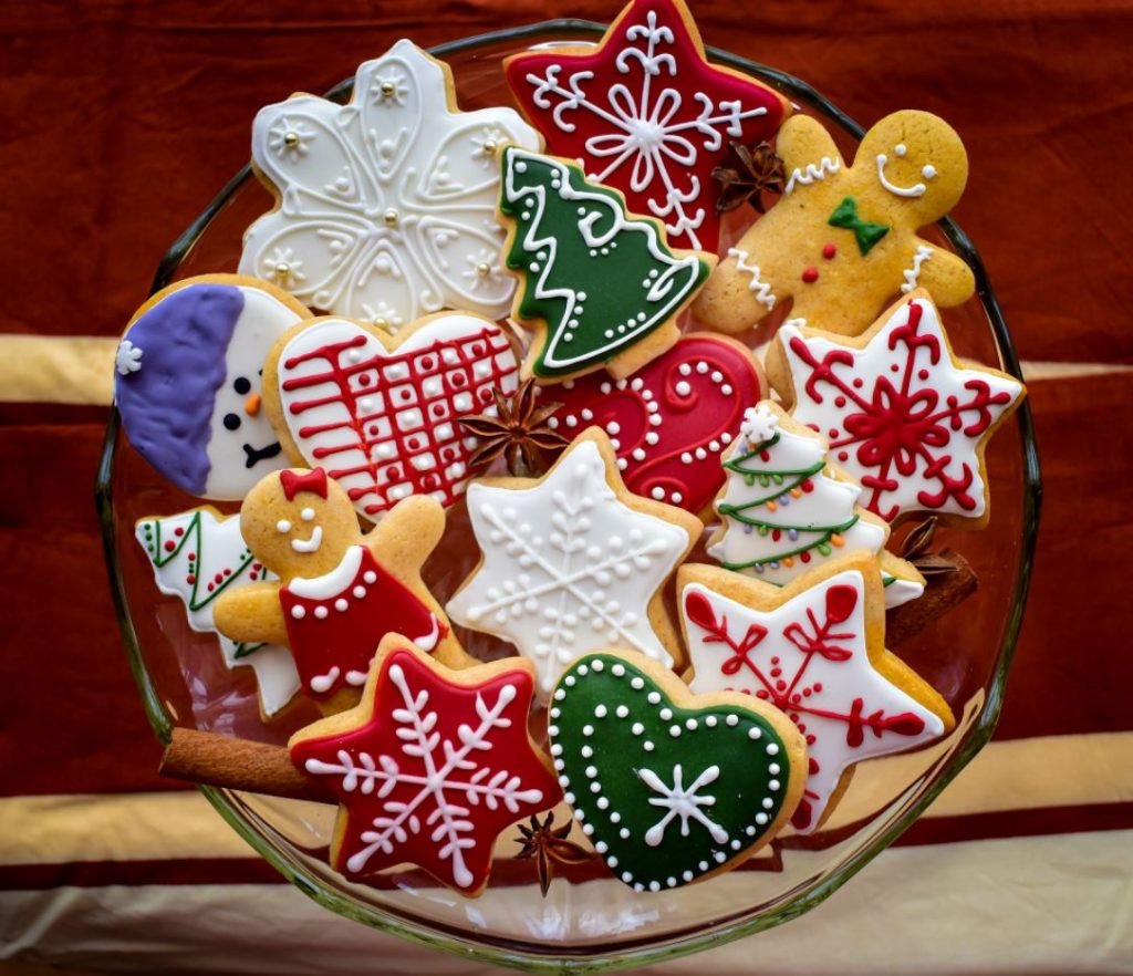 Virtual gingerbread master class online experience available to book for festive virtual Christmas party celebrations.