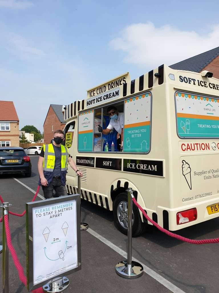 Live event that we ran safely in 2020. Ice cream van promotional event run using Covid-safe practices and maintaining social distancing