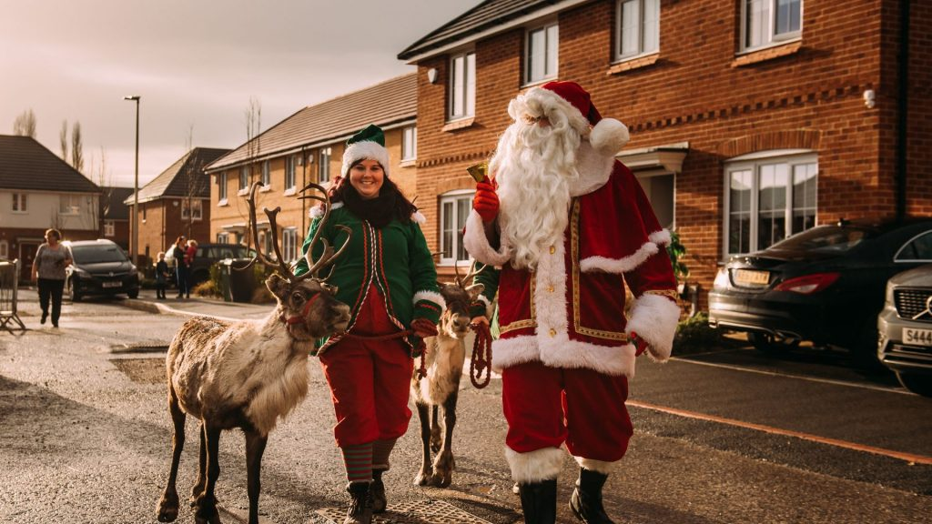 Live event we have run in 2020. Socially distances Santa and his reindeer visits to our clients.