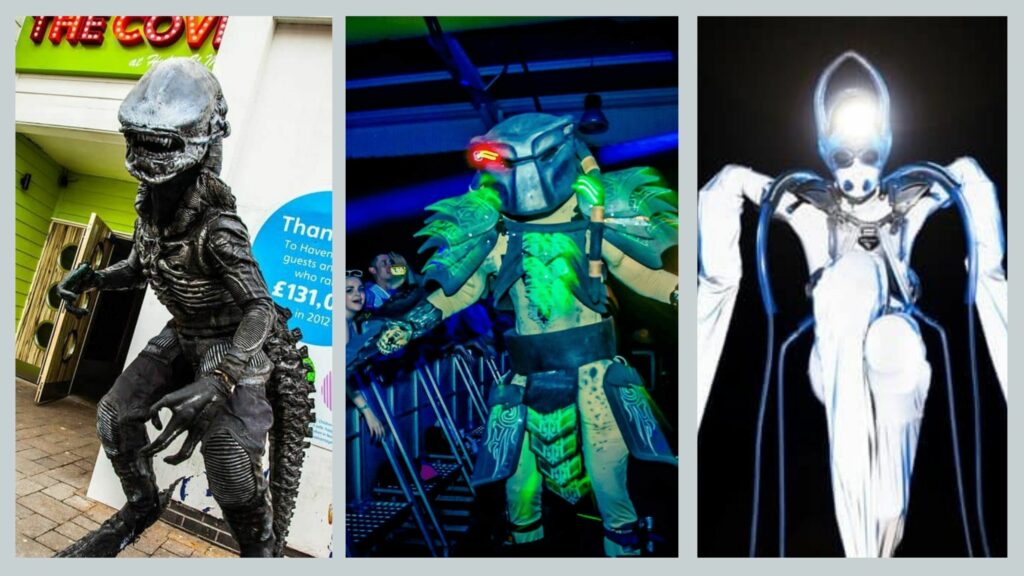 Different Alien entertainment options for Alien themed Halloween party